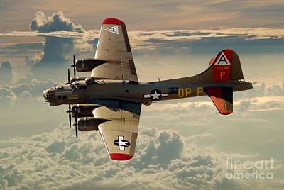 Long Flight Home Of A B-17 Art Print