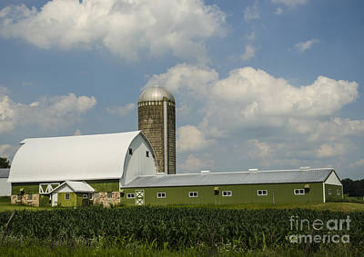 Photograph - Long Green Barn Crivitz Wisconsin by Deborah Smolinske