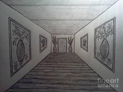 Drawing - Long Hall by Neil Stuart Coffey