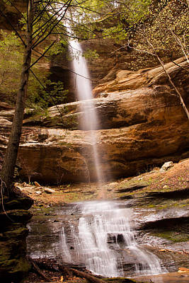 Photograph - Long Hollow Waterfall by Haren Images- Kriss Haren