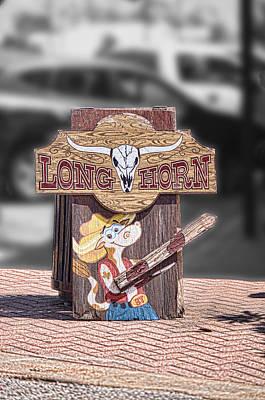 Long Horn Street Sign Original by Linda Phelps