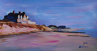 North Haven Island Painting - Long Island Beach Scene - Hamptons South Fork Beach Walk With House I  by M Bleichner