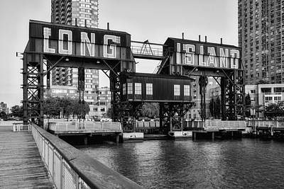 Photograph - Long Island City Bw by Susan Candelario