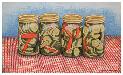 Long Island Pickles Art Print by Reuven Gayle