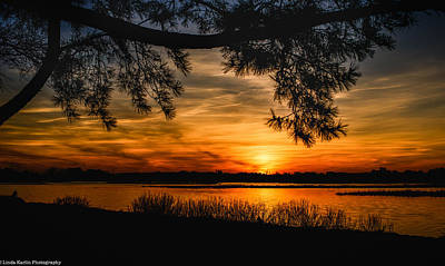 Art Print featuring the photograph Long Island Sunset by Linda Karlin
