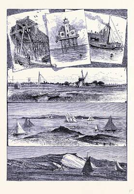 Long Island Drawing - Long Island United States Of America by American School