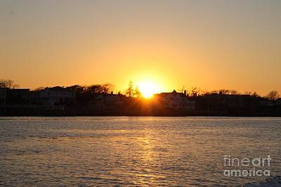 Long Island Winter Sunset Art Print by John Telfer