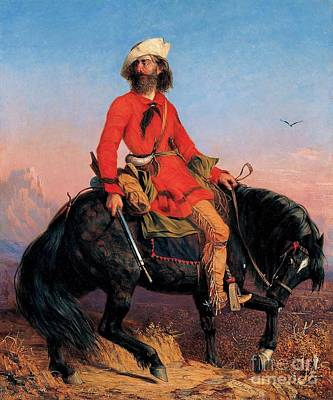 Mountain Man Painting - Long Jake - Rocky Mountain Man by Pg Reproductions
