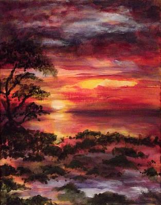 Ocean Sunset Mixed Media - Long Key Sunrise by Nancy Welsch