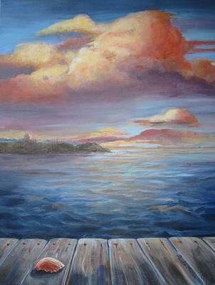Wall Art - Painting - Long Lake  by Paula Marsh