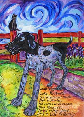 Painting - Long Legged Luke Dog by Dianne  Connolly