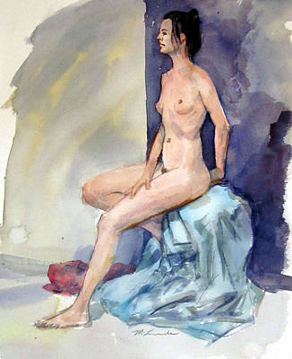Painting - Long Legged Nude by Mark Lunde