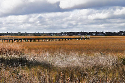 Photograph - Long Marsh Dock by Paulette B Wright