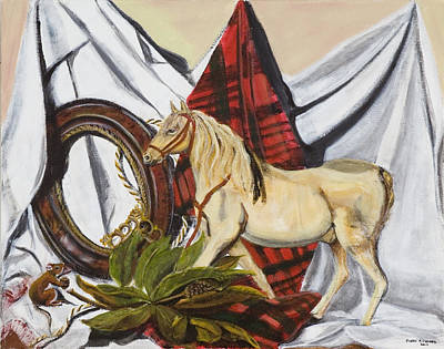 Art Print featuring the painting Long May He Ride by Susan Culver