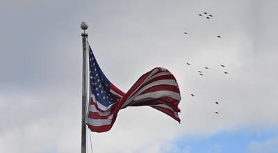 Waving Flag Digital Art - Long May You Wave by Bill Cannon