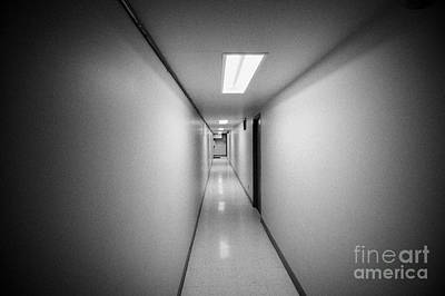 Long Narrow Thin Building Corridor Canada Art Print by Joe Fox