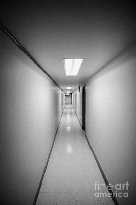 Long Narrow Thin Building Corridor Art Print