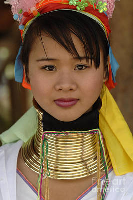 Photograph - Long Necked Woman Of Thailand by Bob Christopher