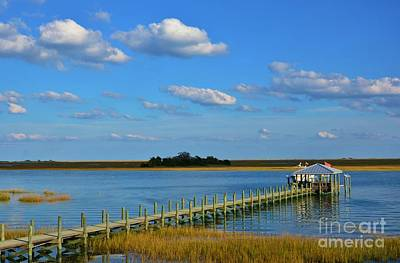 Photograph - Long Pier by Bob Sample