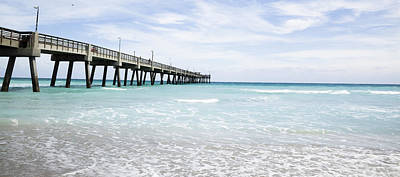 Photograph - Long Pier On Dania Beach by Alex Potemkin