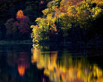 Photograph - Long Pond Autumn Reflections by Alan L Graham