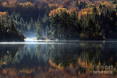 Photograph - Long Pond Reflection by Butch Lombardi