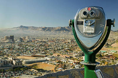 El Paso Photograph - Long Range Binoculars For Tourists by Panoramic Images