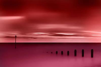 Long Red Sunset Art Print