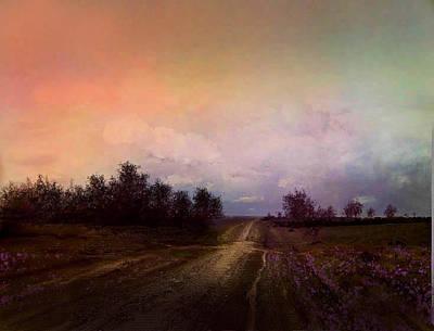 Rural Scenes Digital Art - Long Road by Robert Foster