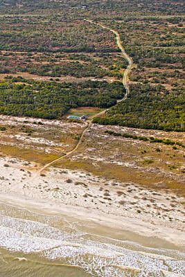 Ga Photograph - Long Road To The Coast Near Jekyll Island by Betsy Knapp