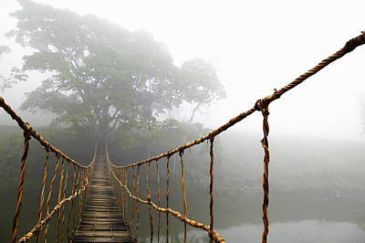 Long Rope Bridge Print by Skip Nall