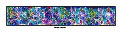 Long Series -- Mental Jungle Art Print by George Curington