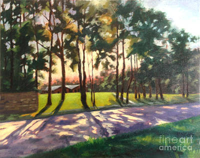 Painting - Long Shadows On Longmire  by Nancy  Parsons