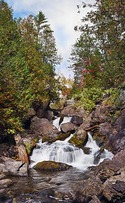 Photograph - Long Slide Falls by Leda Robertson