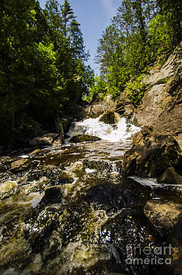 Photograph - Long Slide Falls Pembine Wisconsin by Deborah Smolinske