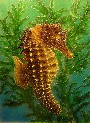 Long Snout Seahorse Original by Hank  Bufkin
