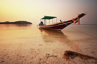 Longtail Wall Art - Photograph - Long Tail Boat by G.v Photographies
