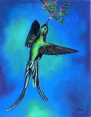 Long-tailed Sylph Pastel - Long Tail Sylph  by Sherri Strikwerda