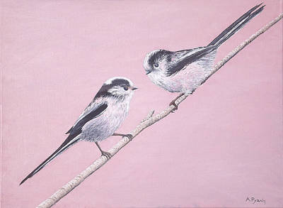 Queue Painting - Long Tail Tits by Andy PYRAH