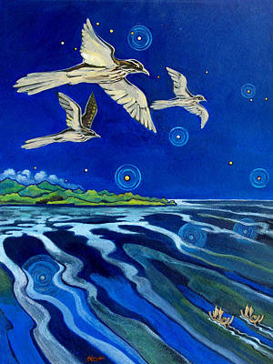 Painting - Long Tailed Cuckoo And The Explorers by Patricia Howitt