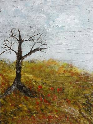 All Poppies Painting - Long Time Passing by Vicki Pirtle