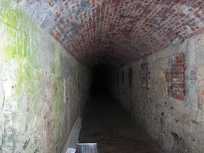 long tunnel in Ft Adams Art Print by Catherine Gagne