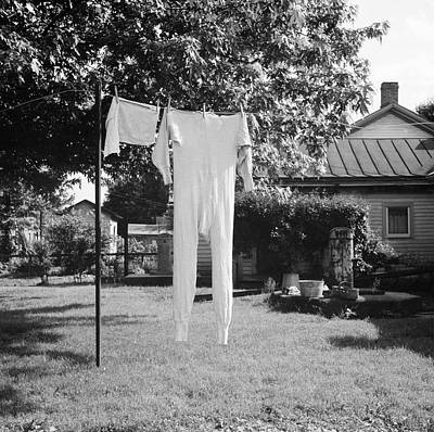 Underwear Photograph - Long Underwear Hanging Out To Dry by Library Of Congress