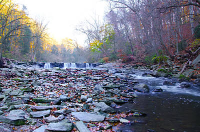 Long View Of The Wissahickon Waterfall Art Print by Bill Cannon