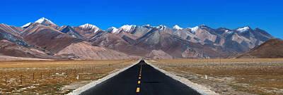 Himalaya Digital Art - Long Way Ahead by Kim Pin Tan
