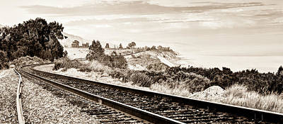 Train Tracks Photograph - Long Way Home by Aron Kearney