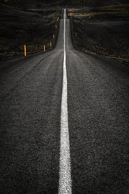Long Way To Nowhere Art Print by Evelina Kremsdorf
