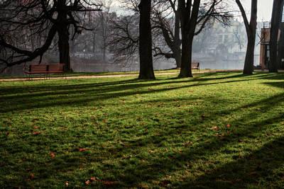 Vltava Photograph - Long Winter Shadows by Joan Carroll
