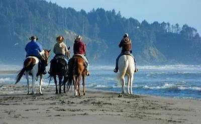 Photograph - Longbeach Horses by Jacqueline  DiAnne Wasson
