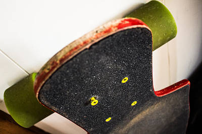 Grip Tape Photograph - Longboard by Mike Mulhearn